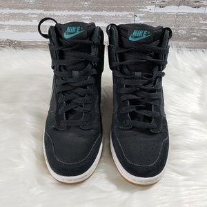 Nike Dunk Sky High Black Wedge Sneakers